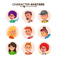 people characters avatars collection vector image