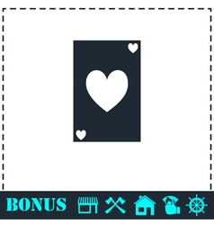 Playing card icon flat vector image vector image
