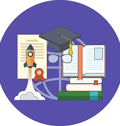 Potential of education concept Flat design Icon in vector image