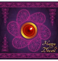 Purple color card design for Diwali festival vector image vector image