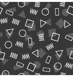 Retro memphis geometric line shapes seamless vector image vector image