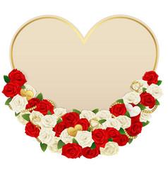 Romantic flower card vector