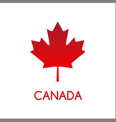 simple of canadian maple leaf vector image vector image