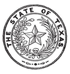 The seal of texas vintage vector