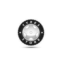 Tires store logo template vector