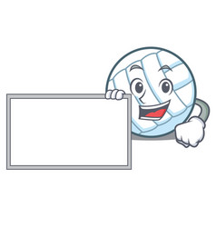 With board volley ball character cartoon vector