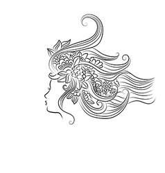 woman face silhouette profile vector image