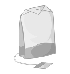 Teabag icon in black monochrome style vector