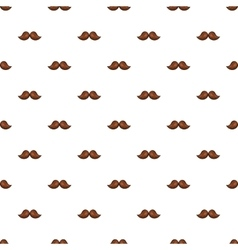 Moustache pattern cartoon style vector