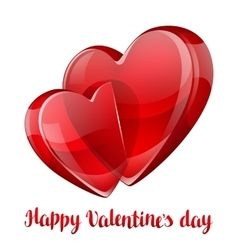 Happy Valentine day greeting card with two crossed vector image