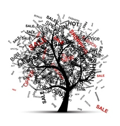 Shopping tree concept for your design vector