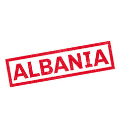 Albania rubber stamp vector