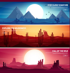 Desert trip extreme tourism and traveling back vector