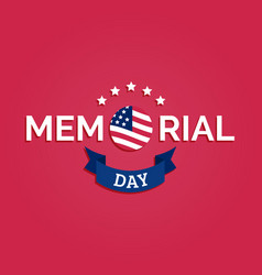 Happy memorial day card national american vector