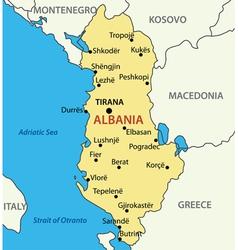 Republic of albania - map vector