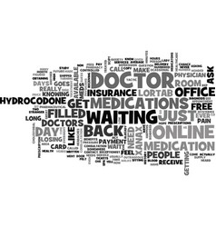 A day at the doctor s office text word cloud vector