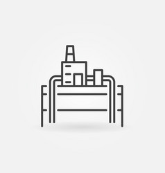 Geothermal power plant icon vector