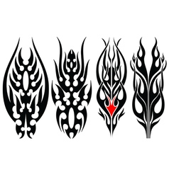 Fire tripal tattoos vector