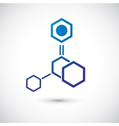 Molecule and communication shape vector image