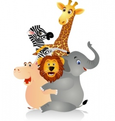 Happy animal vector