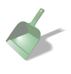 Green scoop for cleaning vector