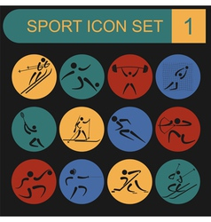 Sport icon set flat style vector