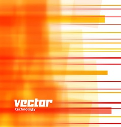 Background with orange blurred lines vector