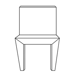 Sketch line drawing of chair vector