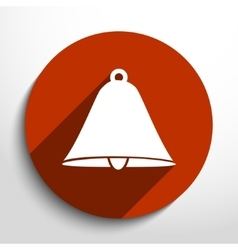 Bell web flat icon vector