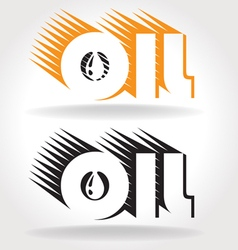Oil logo template vector