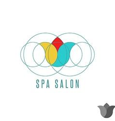Tulip logo flower graphic design mockup beauty vector image