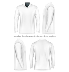 Men long sleeve polo shirt vector