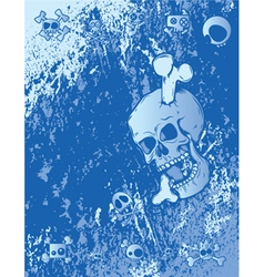 Emo background with skulls vector