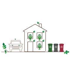 Eco friendly family vector