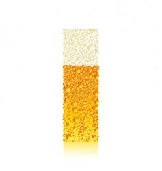 alphabet beer i vector image vector image