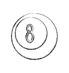 Bowling sport ball vector