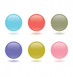 buttons pastel vector image