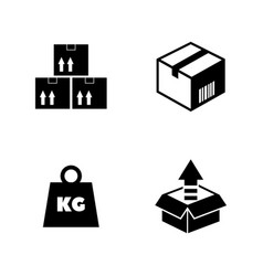 Cargo simple related icons vector