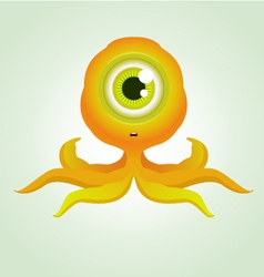 cute octopus monster vector image vector image
