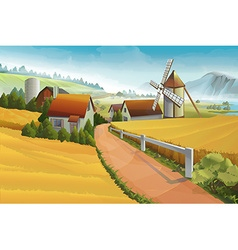 Farm rural landscape background vector