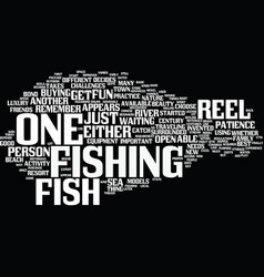 Fish for reel text background word cloud concept vector