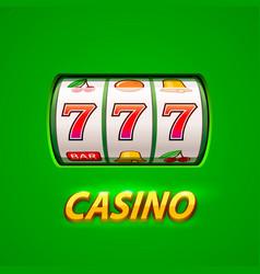 golden slot machine wins the jackpot vector image