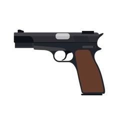 handgun icon vector image vector image