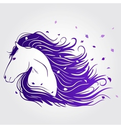 horse beautiful vector image vector image