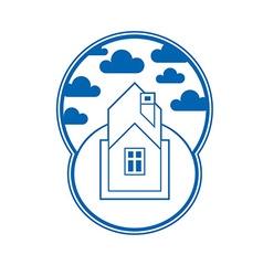 House detailed village idea graphic countr vector