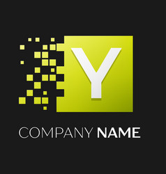 letter y logo symbol in the colorful square vector image vector image