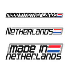 Made in netherlands vector