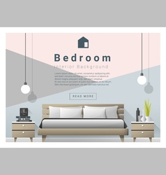 Modern bedroom background Interior design 4 vector image vector image