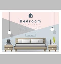 Modern bedroom background interior design 4 vector