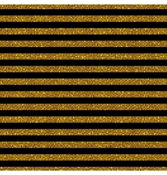 Parallel horizontal lines gold sequins stars vector
